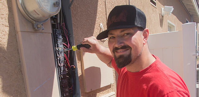 replace electrical panel - old electrical panel - electrical panel inspection