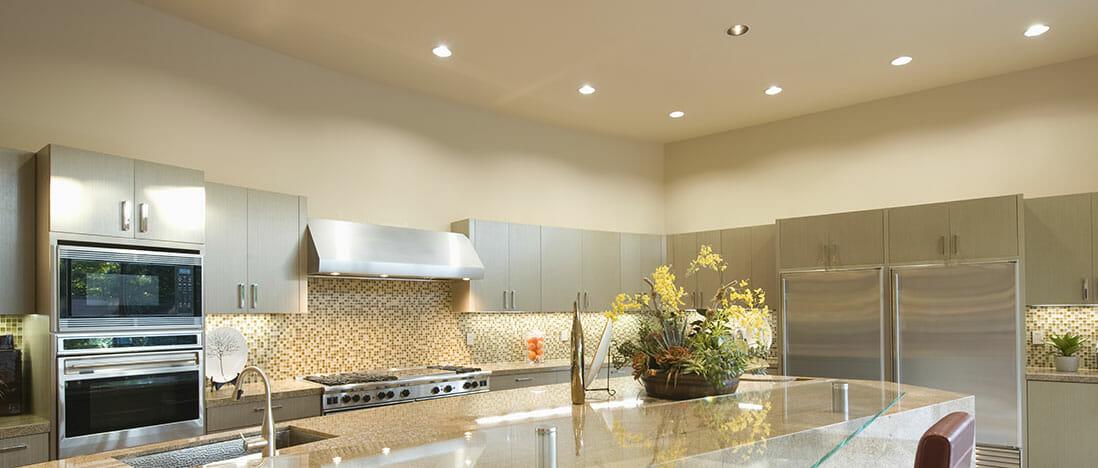 LED kitchen lighting - LED can lights - LED light installation
